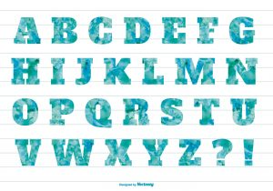 Letters in alphabetical order
