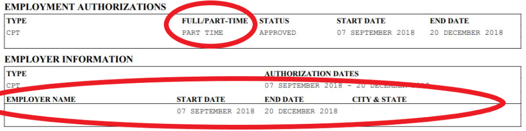 CPT Authorization Example
