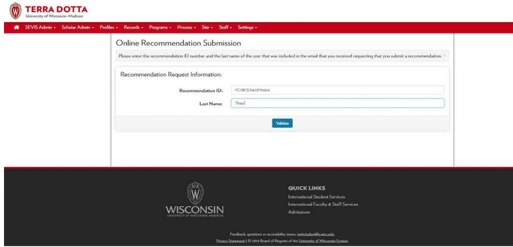 Image of Advisor Verification Login Screen