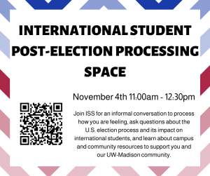 International Student post-election processing space